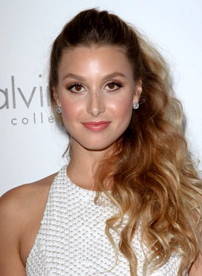 Whitney Port's Long, Wavy, Romantic, Half Updo Hairstyle